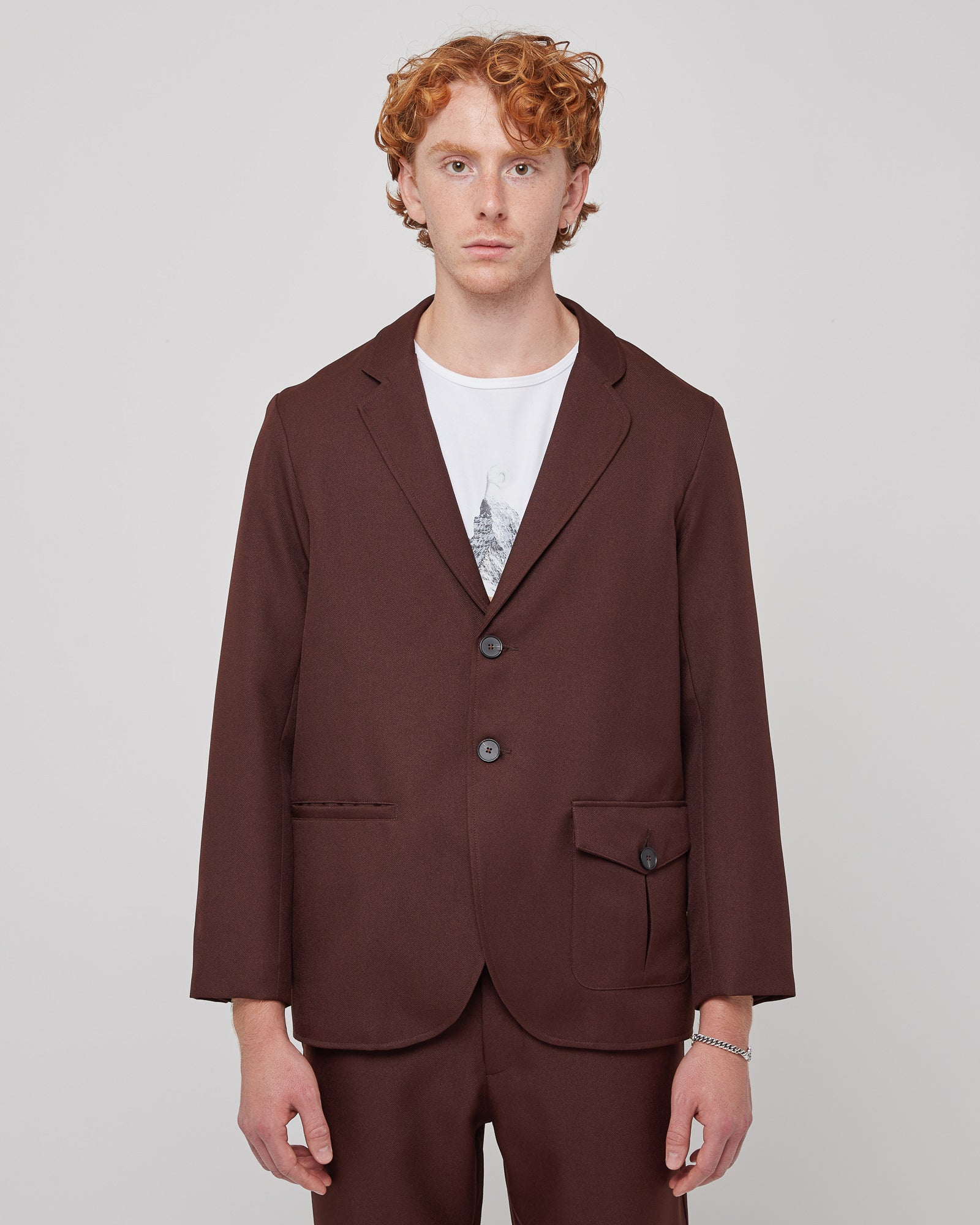Gemini Blazer in Brown