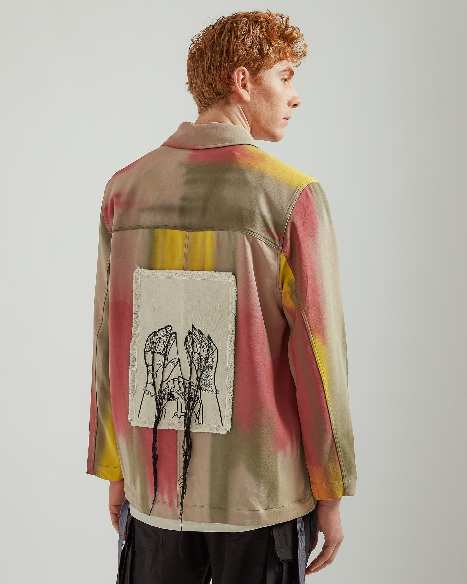 Hands Up Patch Pocket Jacket in Multi