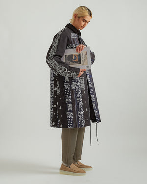 Hank Willis Thomas Edition Archive Print Mix Coat in Black