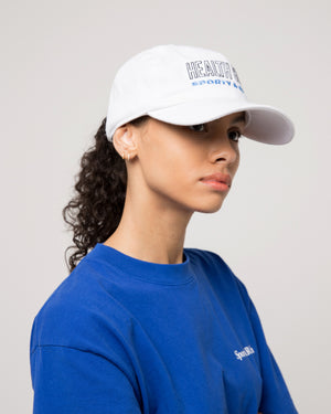 Health Club Hat in White/Black