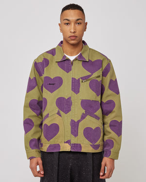 Hearts Harrington Jacket in Army Green