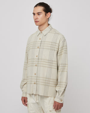 Hemi Oversized Shirt in Cinder Check