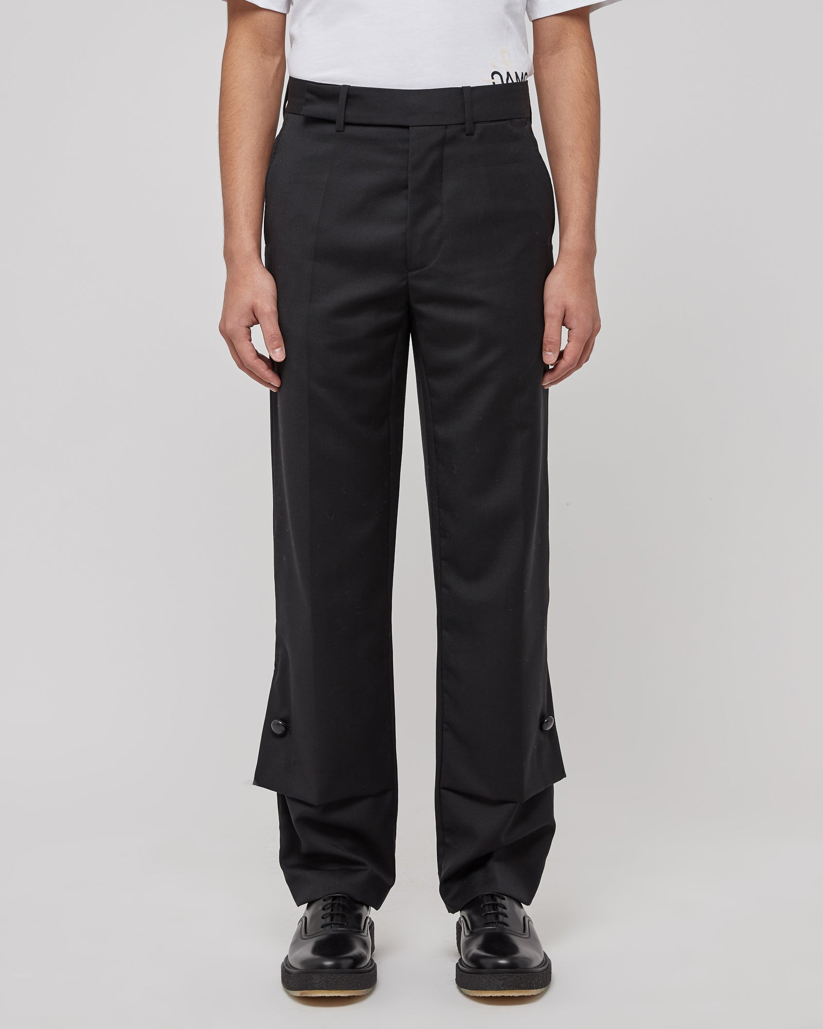 Hirse Flap Trousers in Black