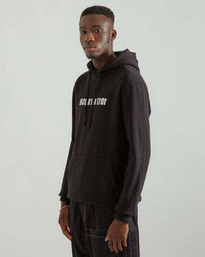 Hoodie With Mirror Logo in Black