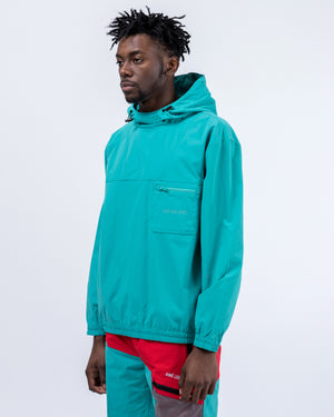 Hooded Anorak Jacket in Green