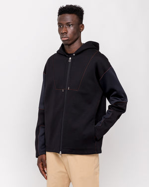 Dive Mix Full Zip Hoodie in Black