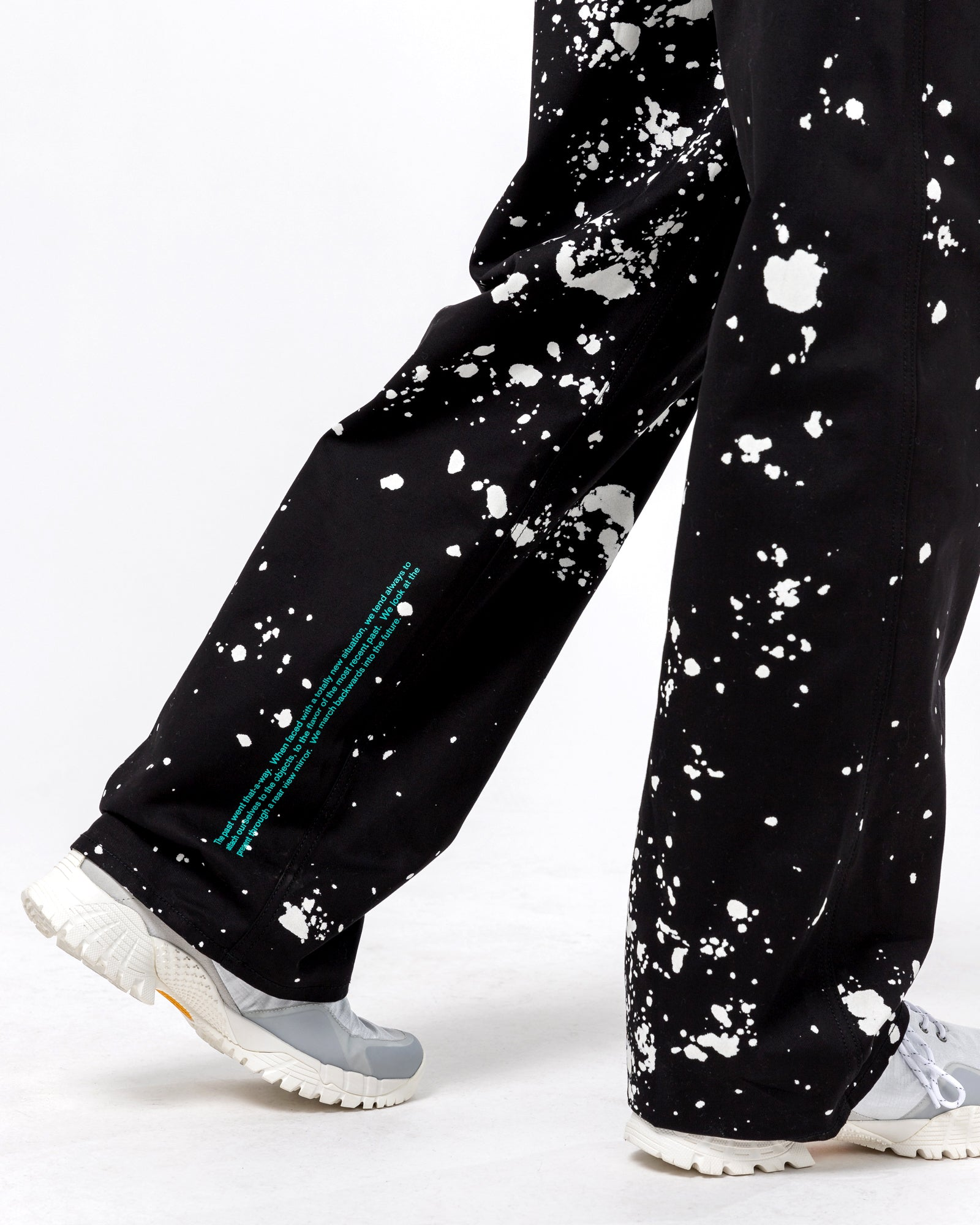 Orion Splatter Pant in Black & White