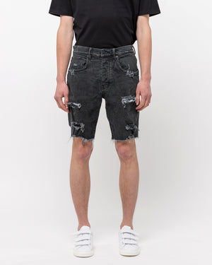 020 Denim Shorts in Vintage Coated Black