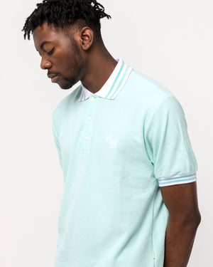 Monogram Polo in Pool Blue