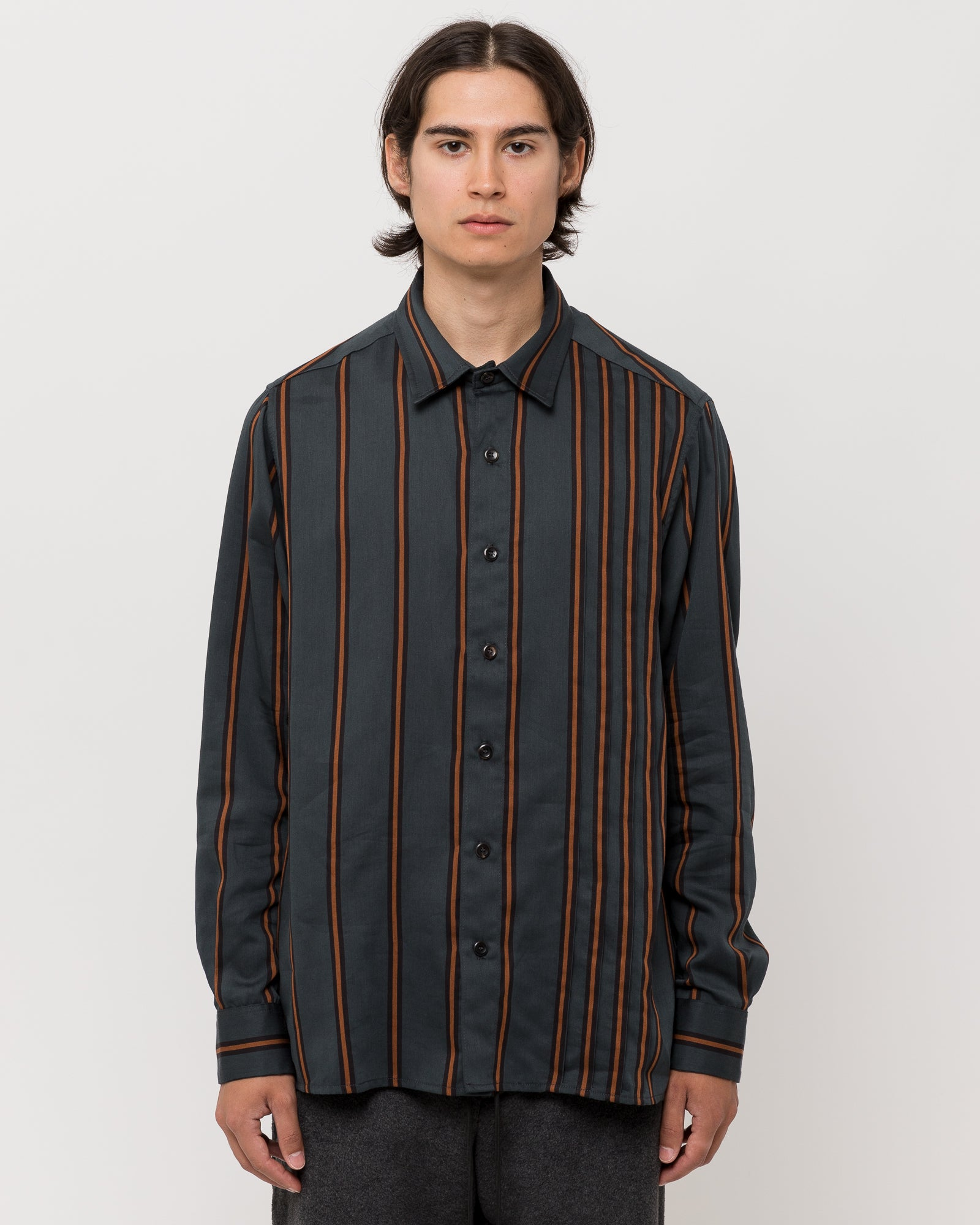 Chocolate Waterfalls LS Shirt in Stripe