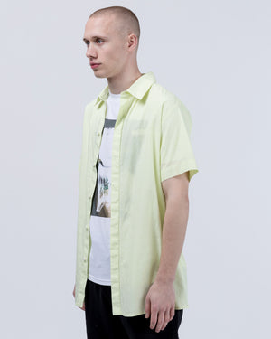 Stevie Button Up in Neon Yellow