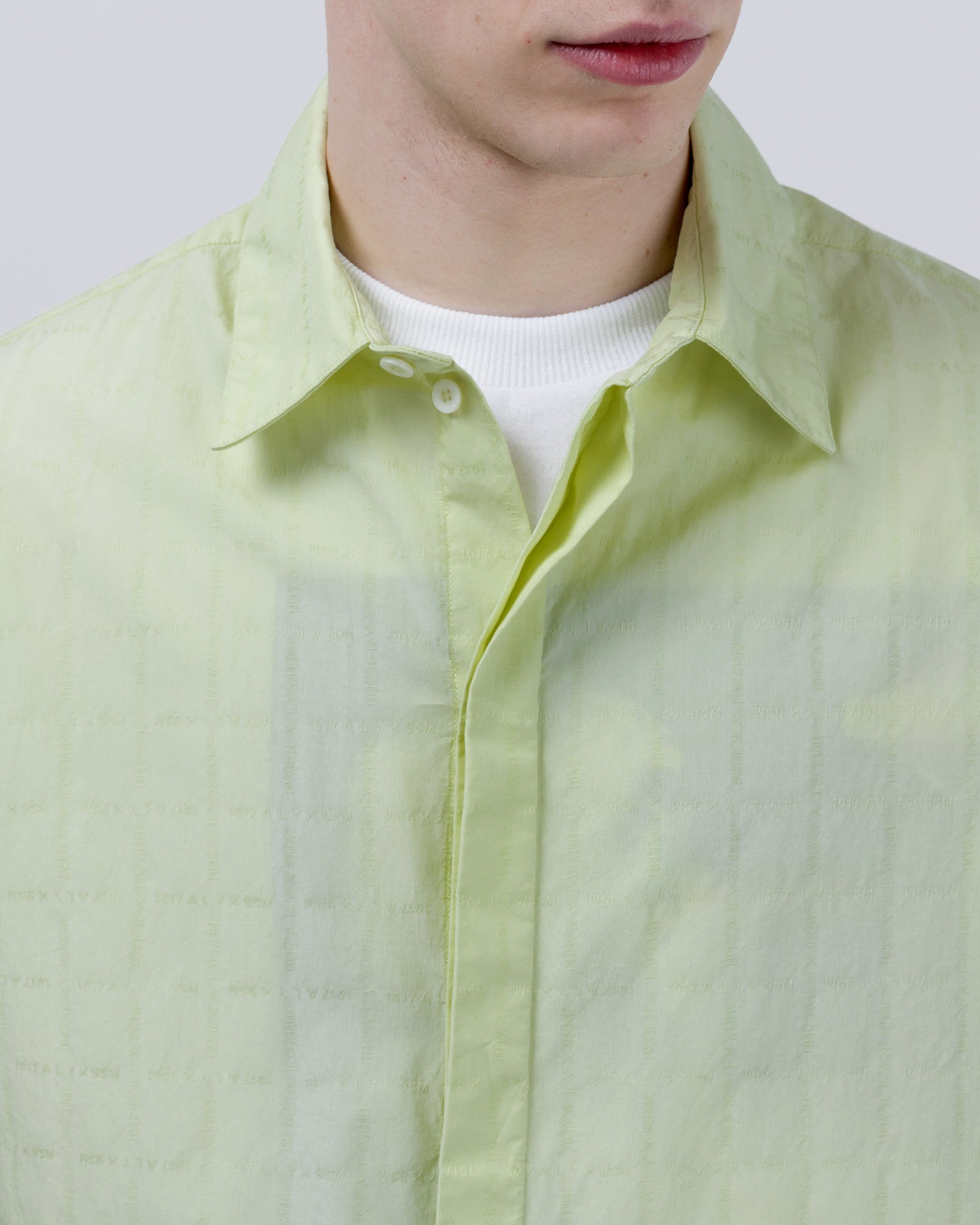 Stevie Button Up in Neon Yellow | 1017 Alyx 9SM