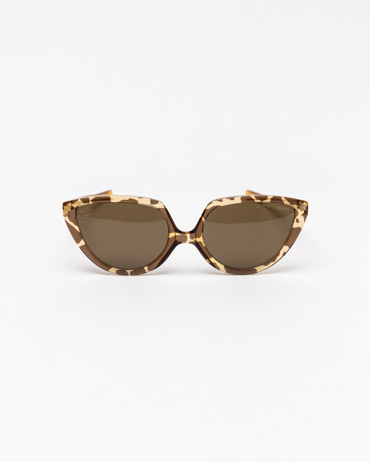 Mykita x Martine Rose Raw Brown Solid in Honey Giraffe