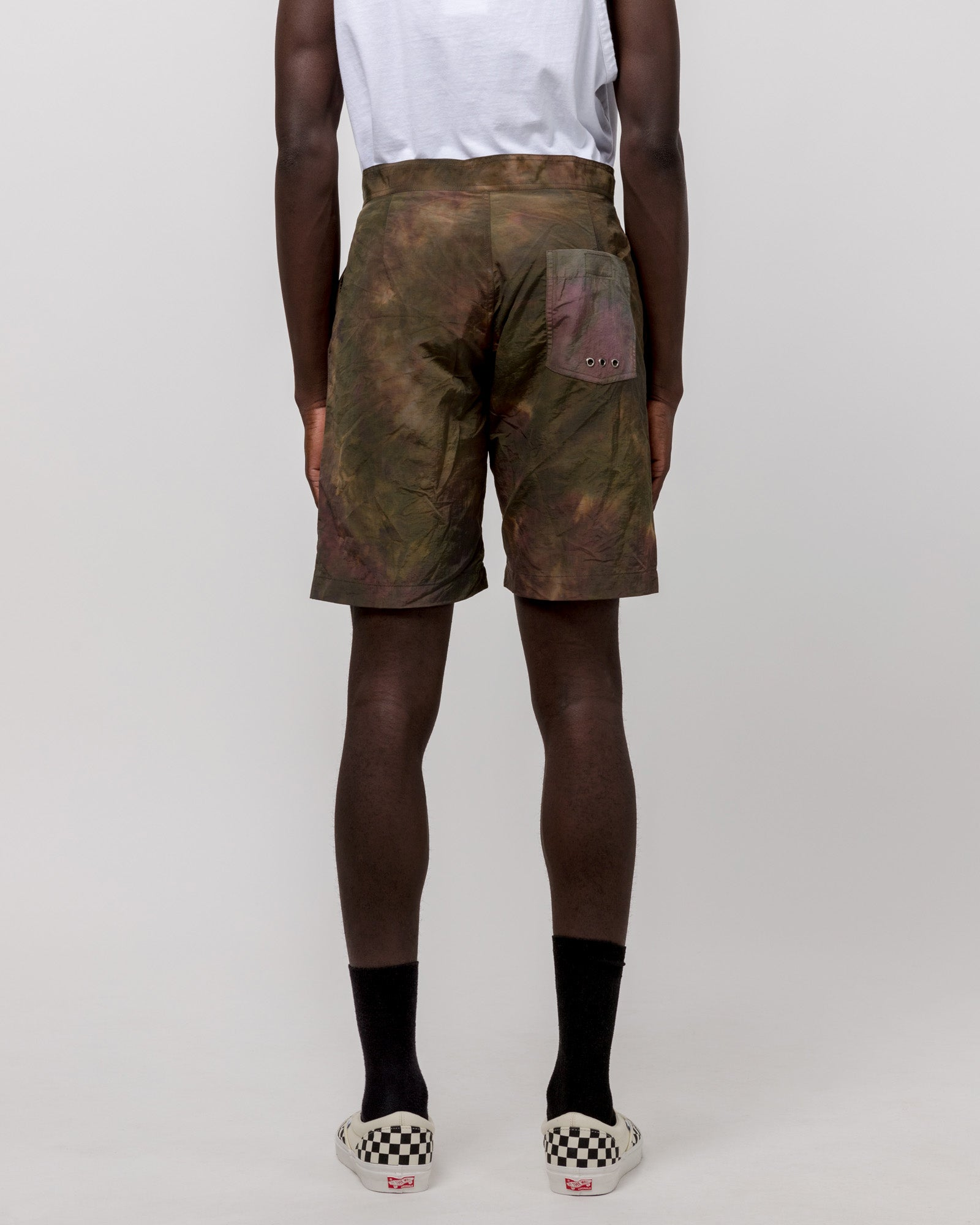 Solar Board Shorts in Army Tie Dye