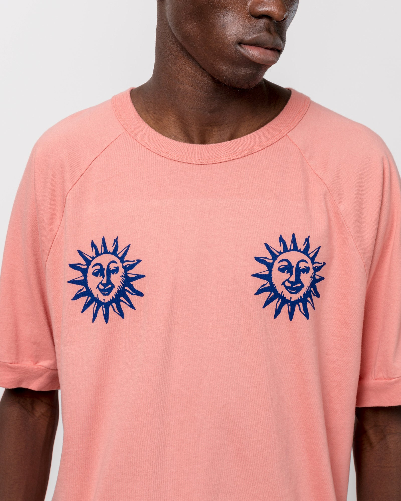 Acid Sun Athletic T-Shirt in Salmon