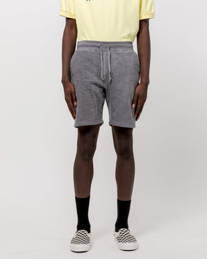 Terry Cloth Short in Charcoal