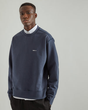 Outline Crewneck in Deep Ocean