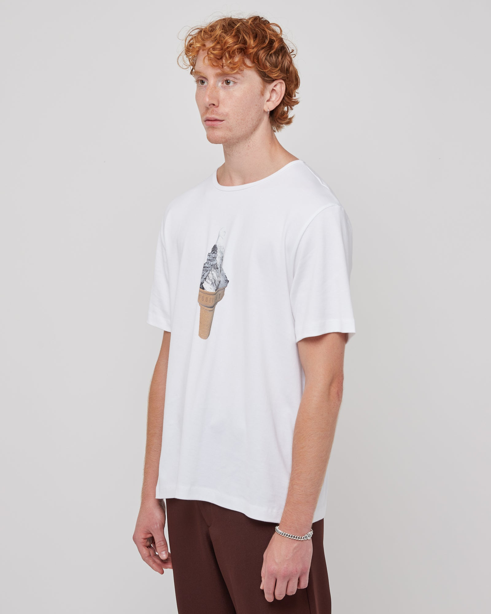 Ice Cream Mountain S/S T-Shirt in White