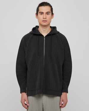Cotton Surface Jacket in Black