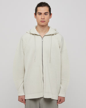 Cotton Surface Jacket in Cream