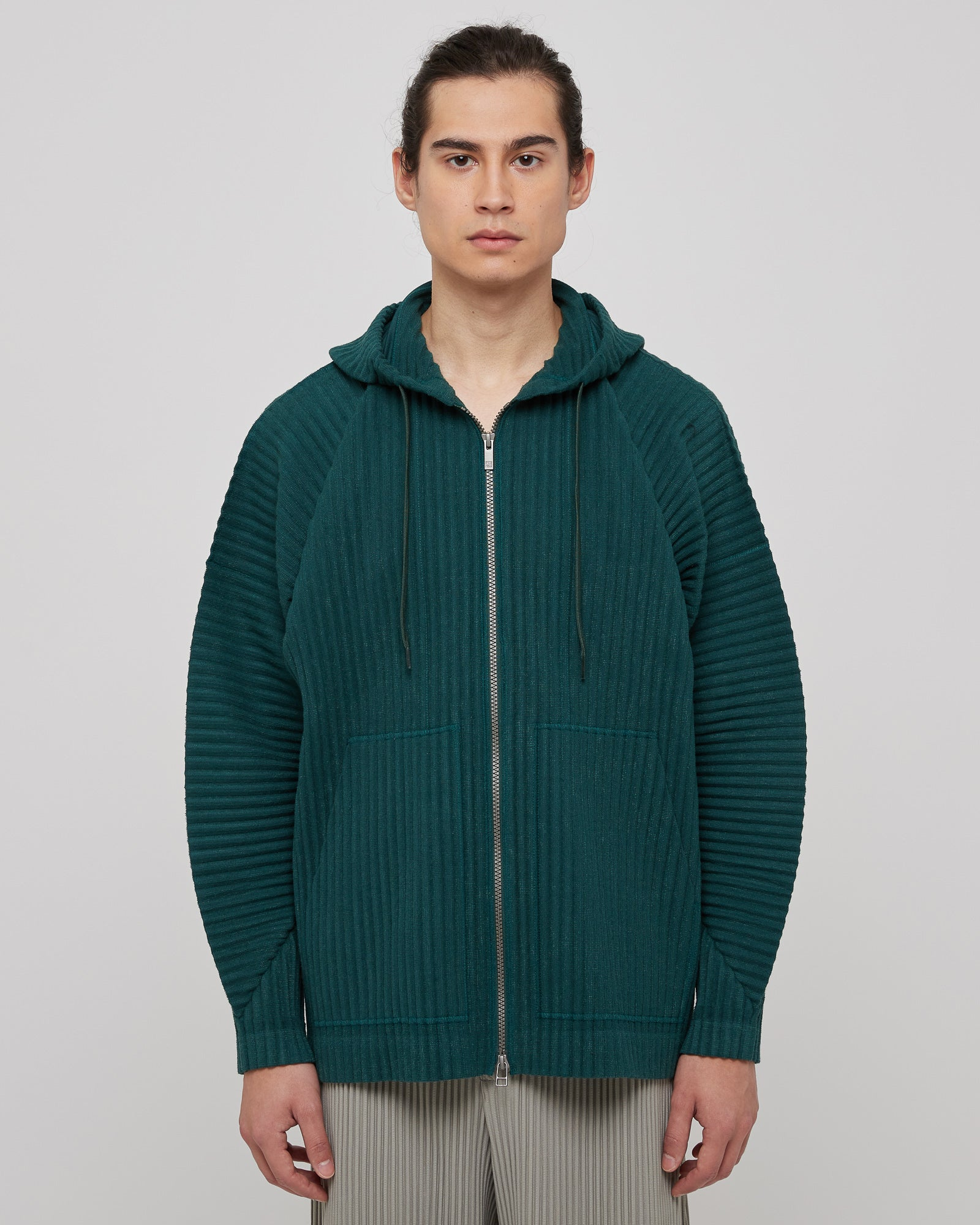 Cotton Surface Jacket in Dark Green