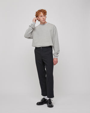 Junction Trouser in Black Pinstripe