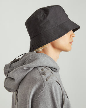 Laced Bucket Hat in Black