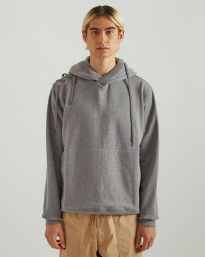 Laced Hoodie in Gray