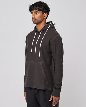 Laced Hoodie in Black/Cream