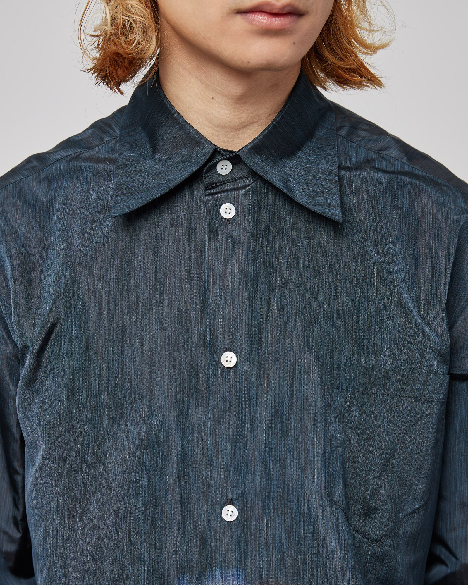 Lause Warp Print Classic Shirt in Black