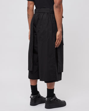 Layered Trackshorts in Black