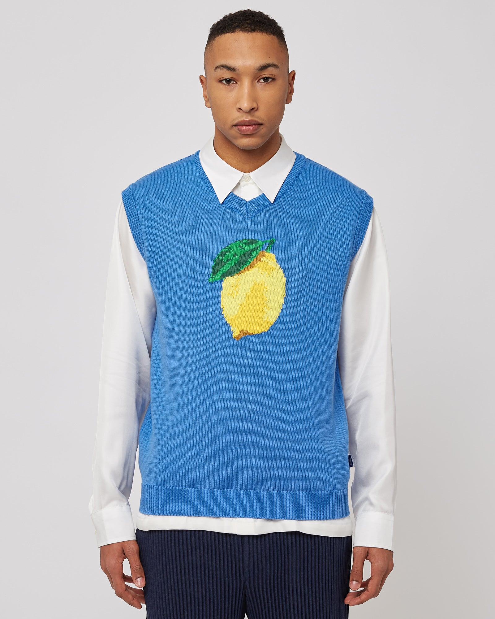 Lemon Vest in Azure