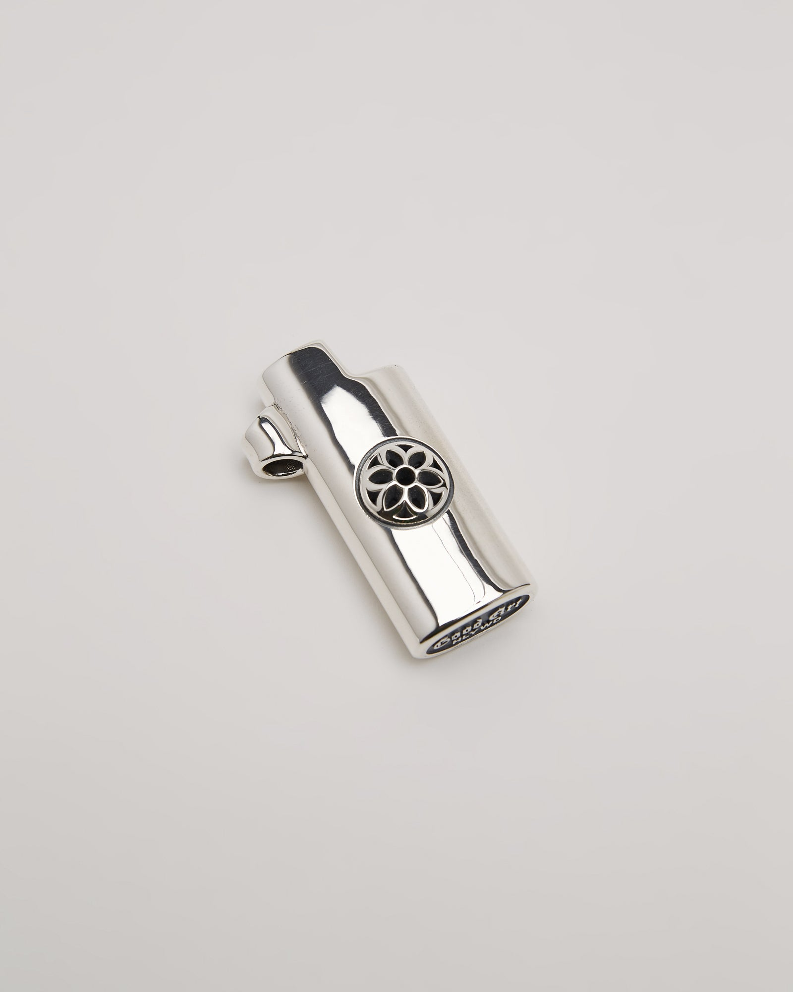 Mini Bic Noodle with Rosette, Sterling