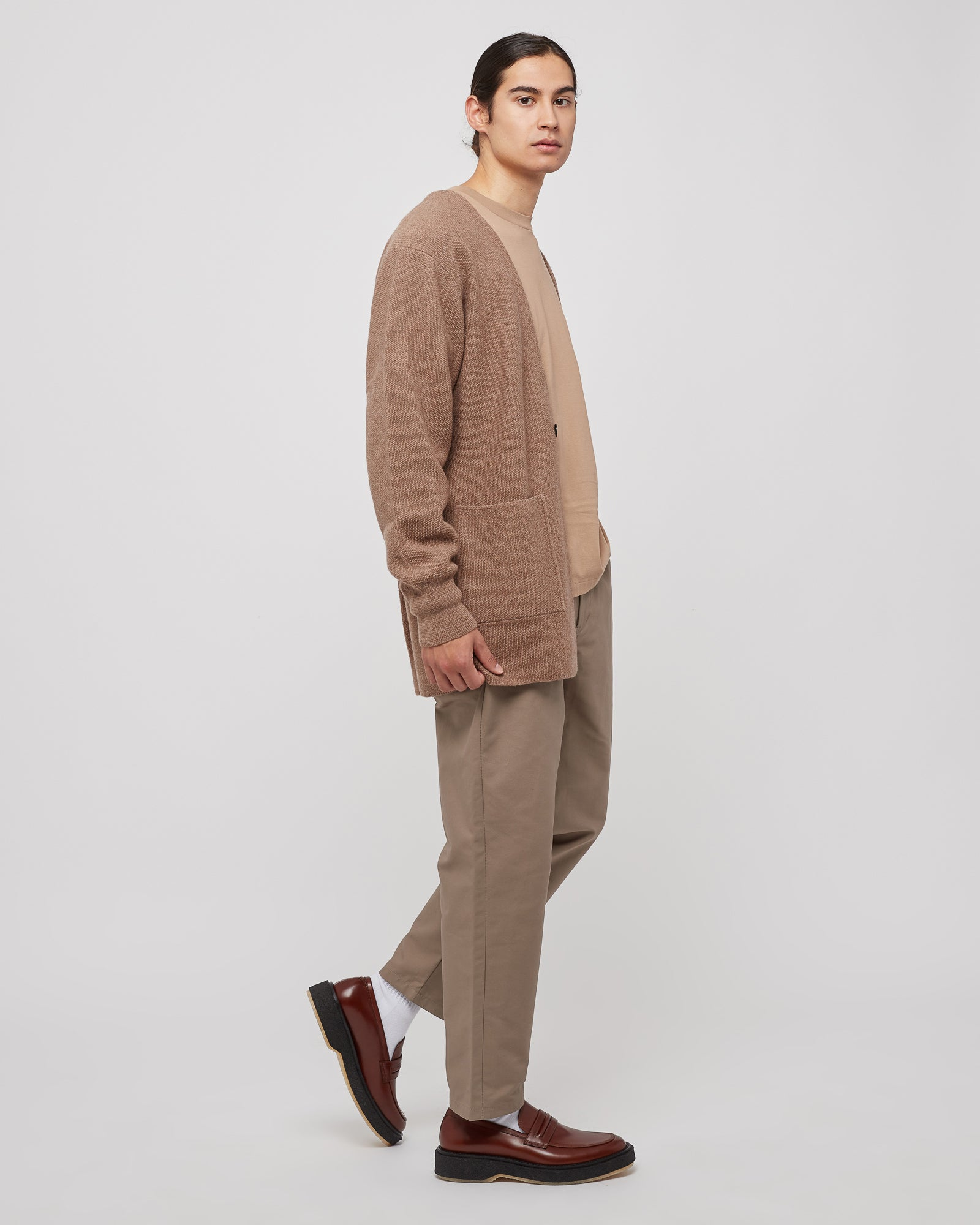 Cloth Tapered Pants in Greige