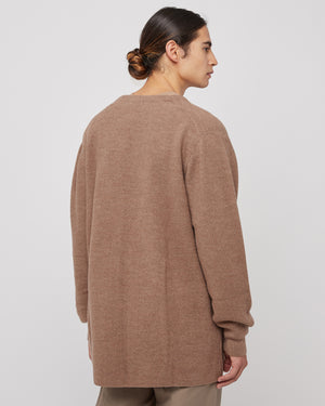 Long Knit Cardigan in Camel