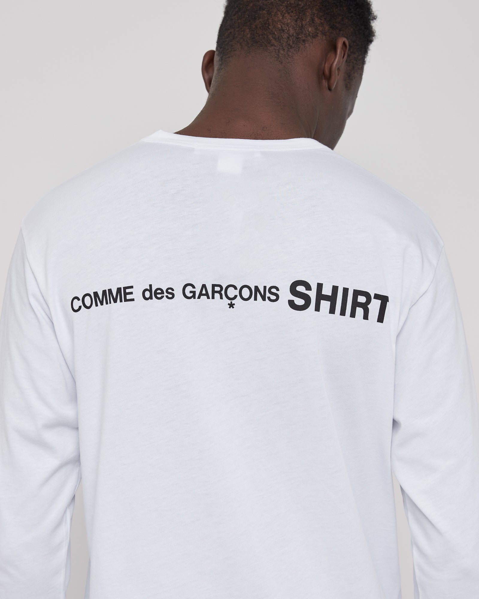Long Sleeve Graphic T-Shirt in White