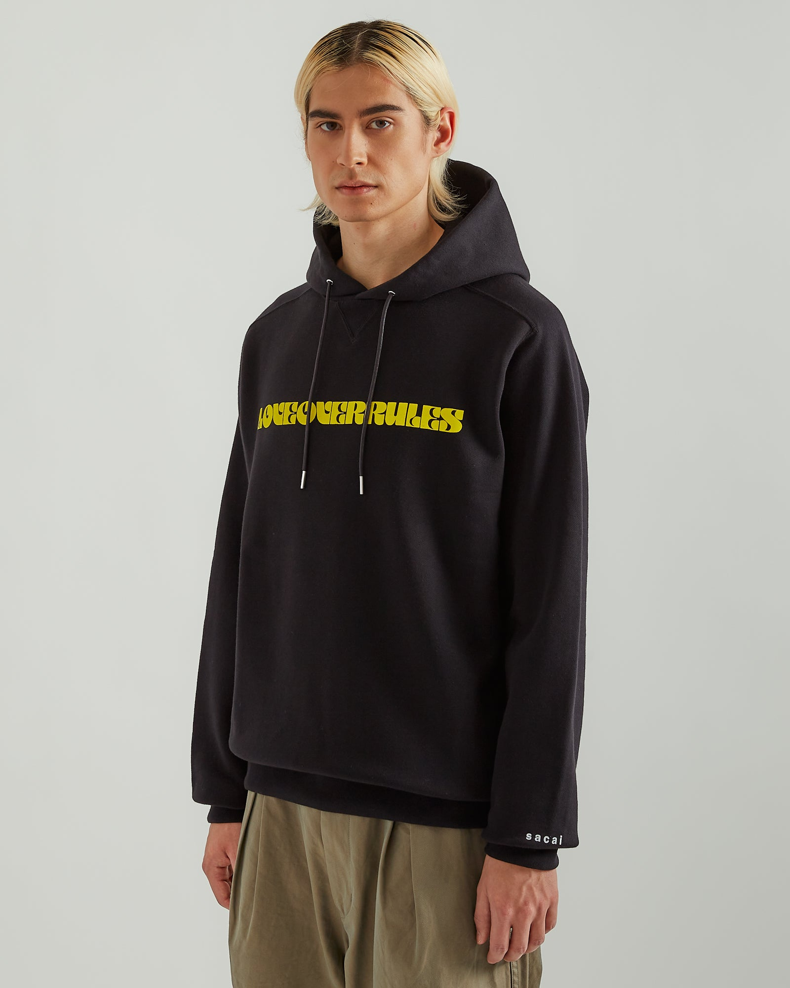 Love Over Rules Hoodie in Black