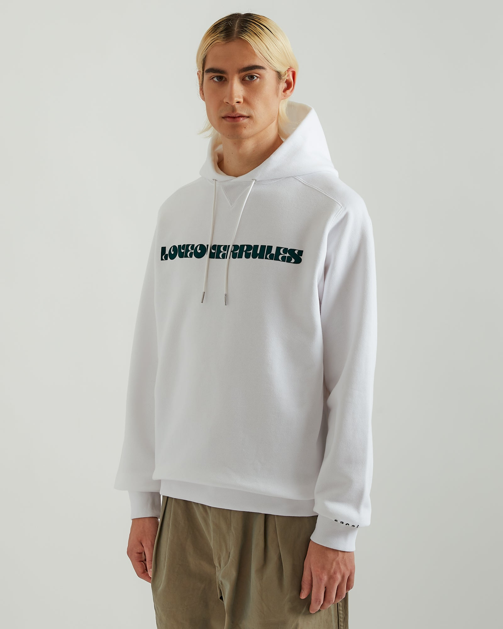 Love Over Rules Hoodie in White