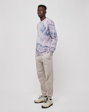 Contour Line Panelled Pants in Cement
