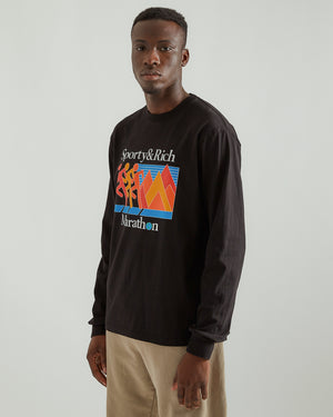 Marathon L/S T-Shirt in Black