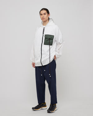 Drawstring Pocket Jacket in White