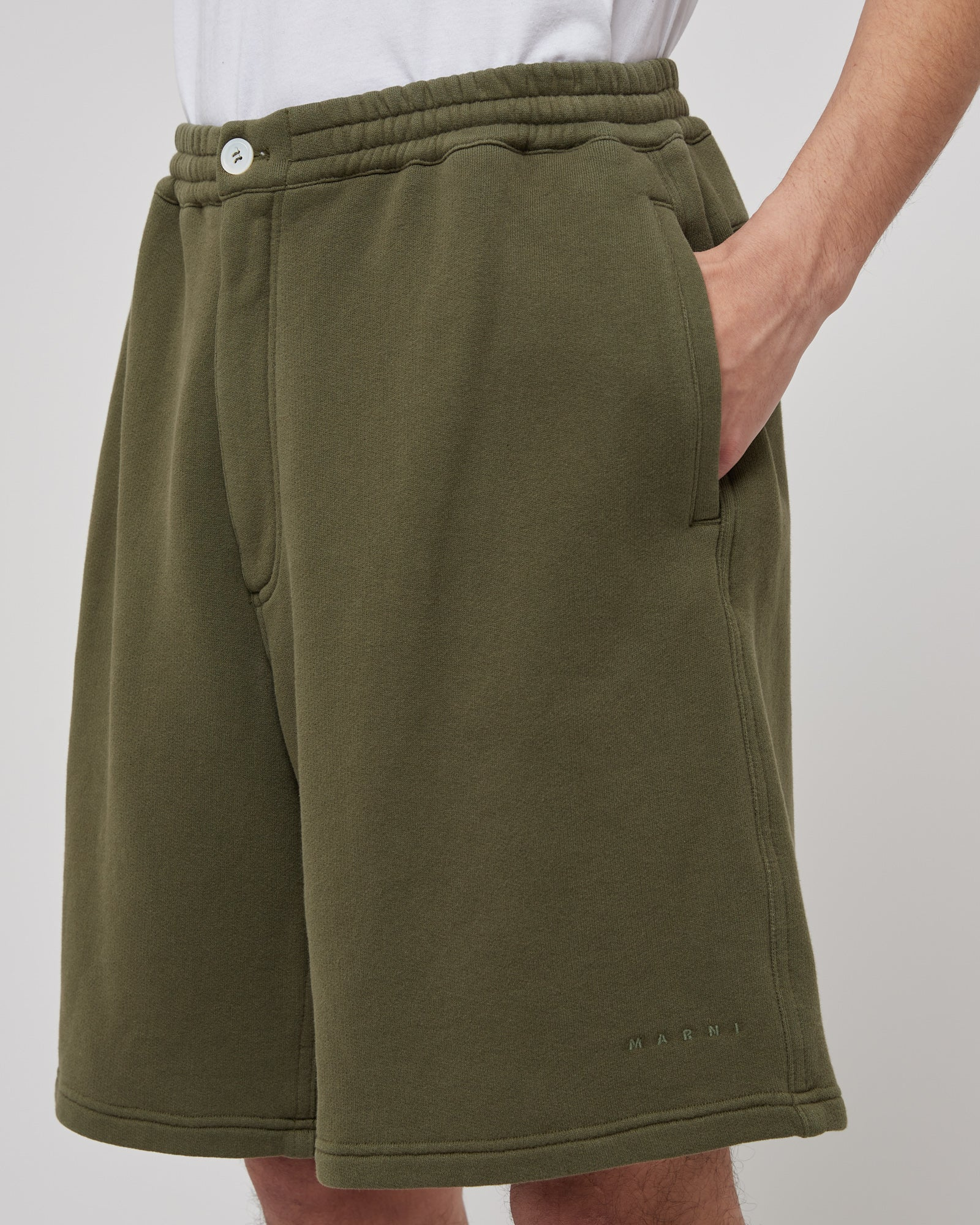 Terry Shorts in Forest Green