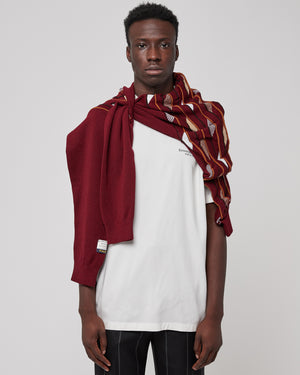 Marquee Scarf Jumper in Dark Rose