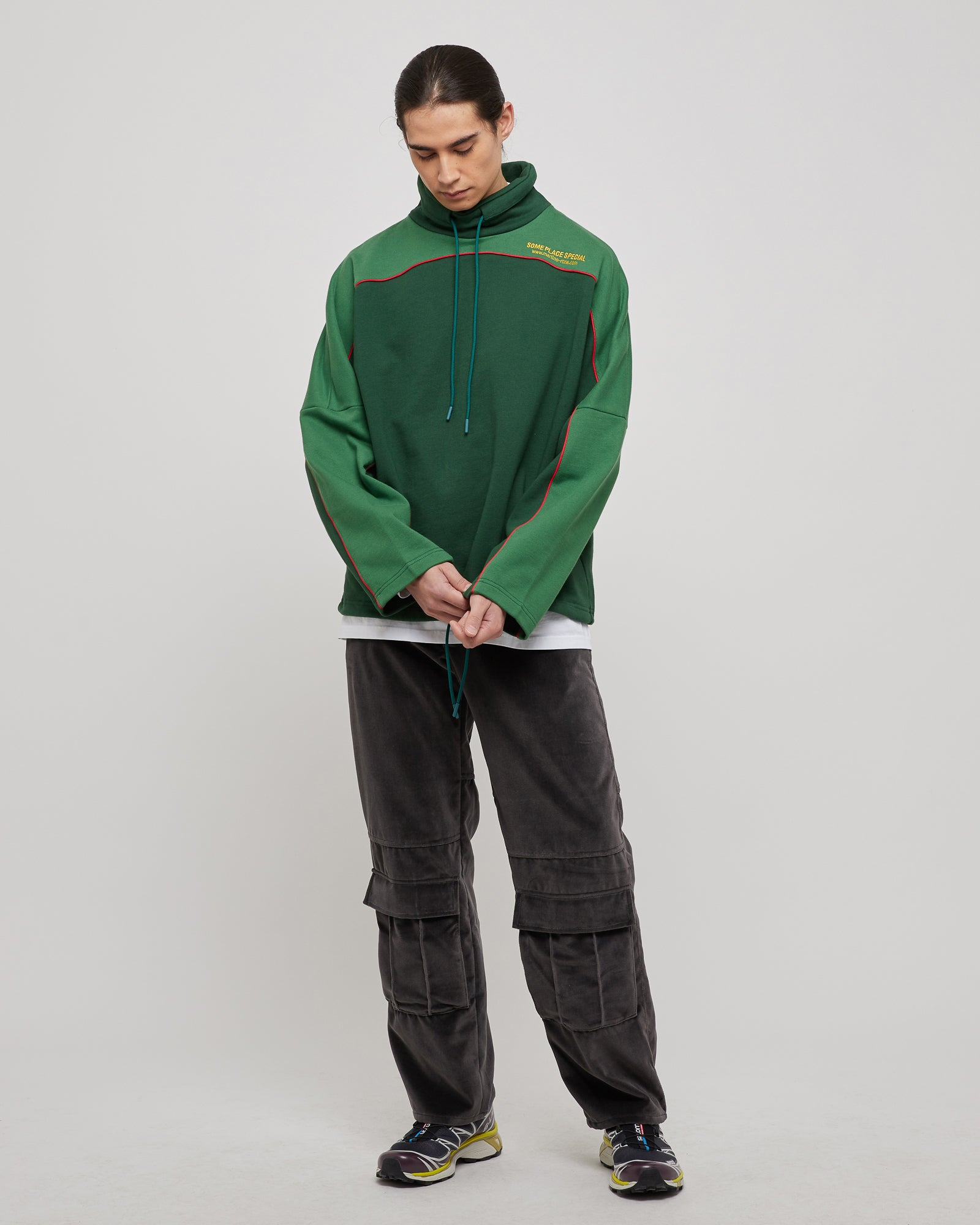 Benz Batwing Fleece in Green