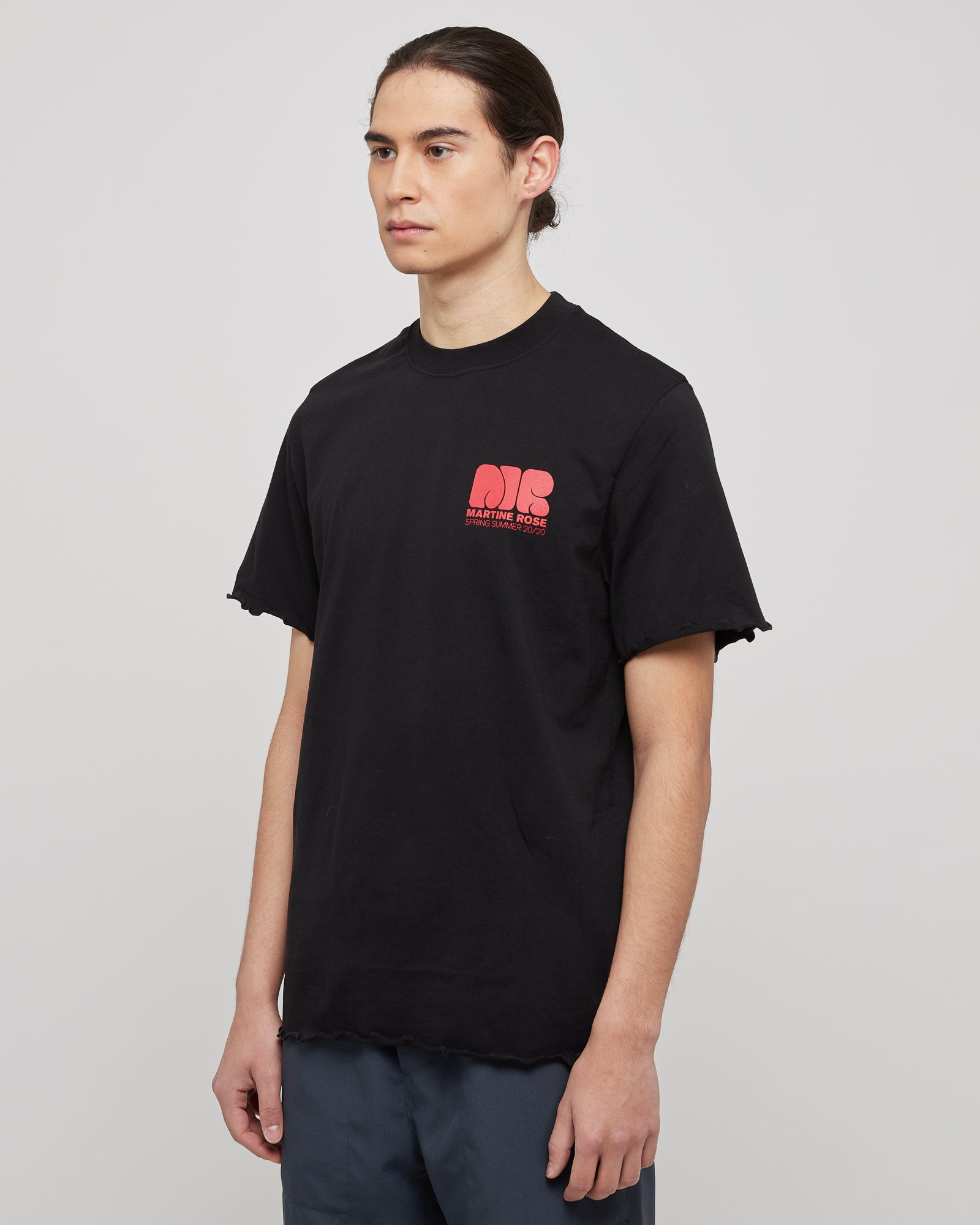 Lettuce Hem T-Shirt in Black