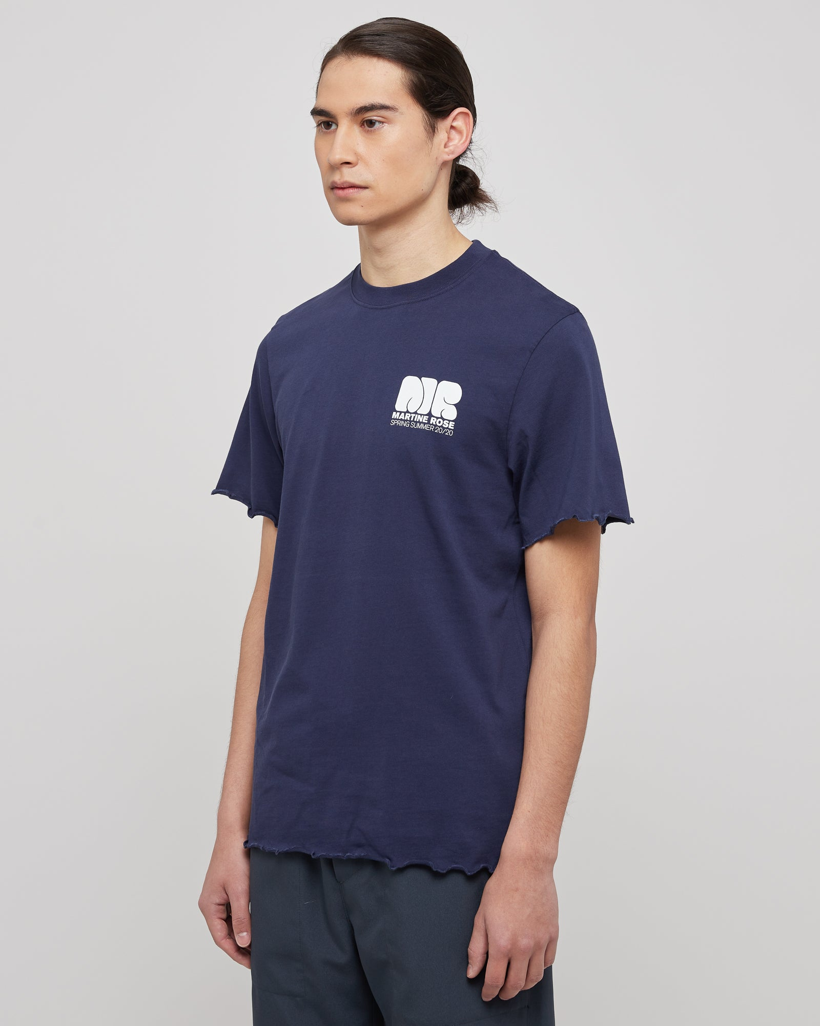 Lettuce Hem T-Shirt in Navy