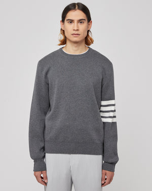 Milano Stitch Crewneck in Gray