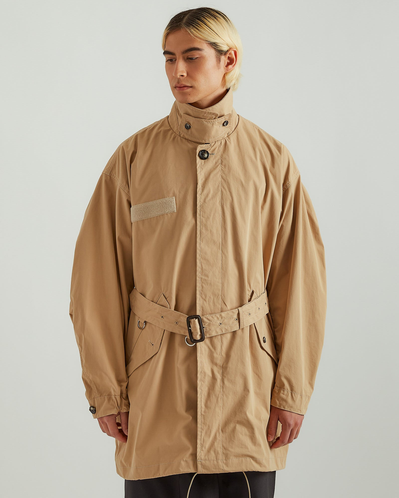 Mods Collar Coat in Beige