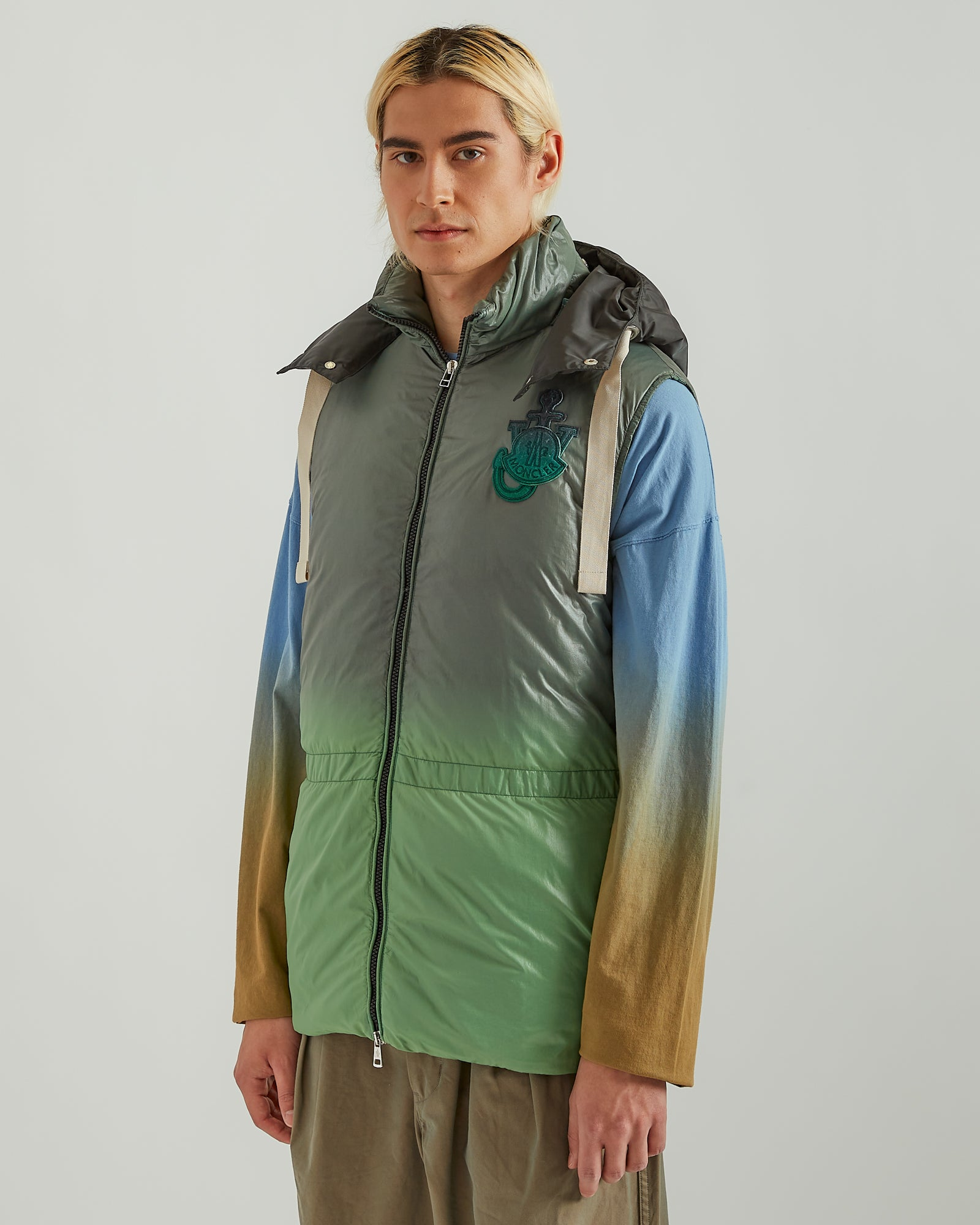 1Moncler JW Anderson Chesil Down Vest in Green