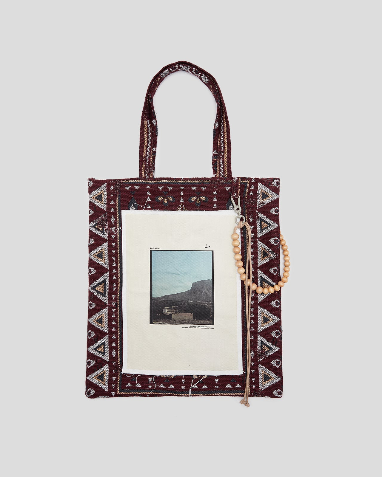 Mountain Large Tote Bag in Burgundy